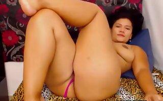 Horny bbw Latina fucks her pussy with lovense dildo