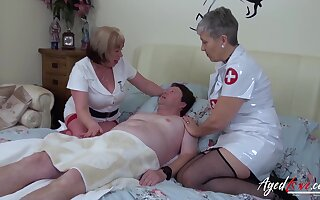 Mature ladies got her nasty curves and huge aged boobs fucked really hard