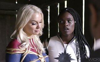 Marvelous lezzie interracial for the elegant heroines