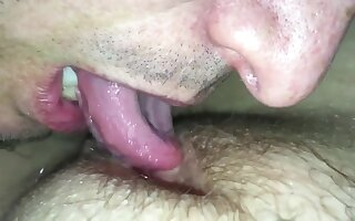 Eating BBW Wife's Pussy