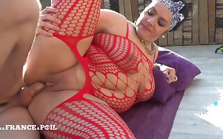 La France A Poil - Bbw Housewife In Fishnet Hard Sodomi
