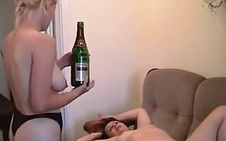Non-Professional - big beautiful woman Dble Fist Cucumber Can & Bottles