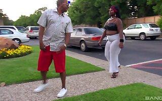BBW ebony slut Gucci Asswell gets fucked away from a massive black detect