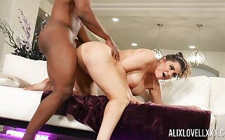 Black man picks forth Alix Lovell by means of a hardcore bang session