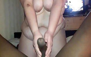 Bbwbootyful Sucking My Boobs And Ribbing Bbc Nigh Stockings, Sucking