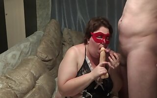Russian Unskilled Bbw Using Dildo While Obtain Fucked