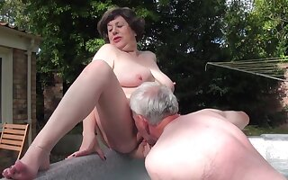 Mature carnal knowledge - Water Girder Inspector Deserts - threesome with old fat ass grandma
